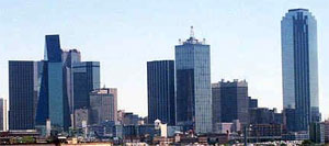 The Oz-like appearance of the Dallas Skyline is due to the heavy use of reflective glass