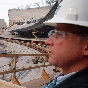 Mark Meshulam at Soldier Field construction site