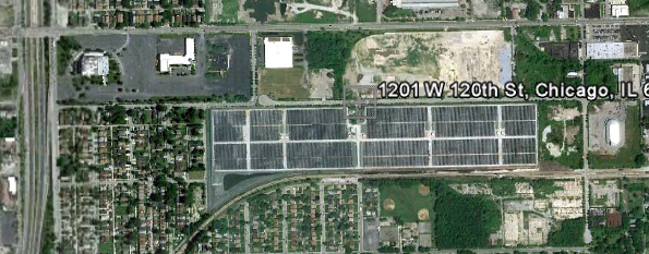 Excelon City Solar, Chicago. The largest urban solar power plant in the US