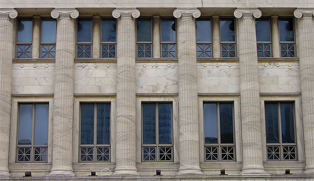 West Elevation of the Field Museum, equipped with our custom windows. Picture was taken this week. The windows look as good as new, although they are 20 years old.
