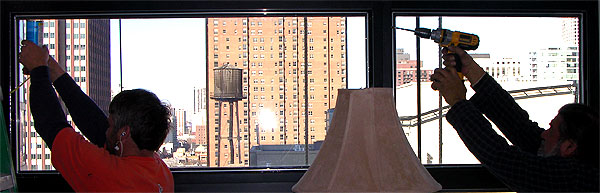 Retrofitting injectable foam into window frame to reduce window condensation
