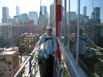 Mark Meshulam, Chicago Window Expert, hangs around big buildings on a regular basis