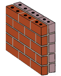Barrier masonry wall