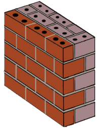 Mass-type masonry wall