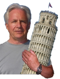 Mark Meshulam, Chicago Window Expert, at the world's most famous and beautiful construction defect, the Leaning Tower of Pisa, Italy