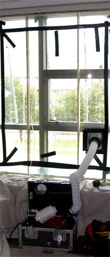 Window test for water penetration