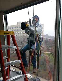 "Chicago Window Expert was a window contractor. We are ""hands on"" and not afraid to get dirty or hang outside the building high in the air."