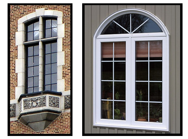 Comparison between restored steel windows and wood clad casement windows
