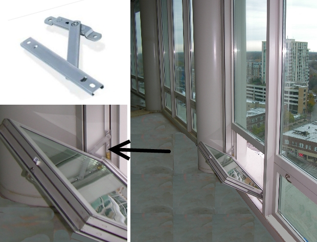 Limit stop devices for hopper windows can prevent child falls from windows