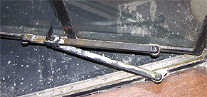 Steel window hardware