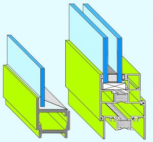 Steel and aluminum windows