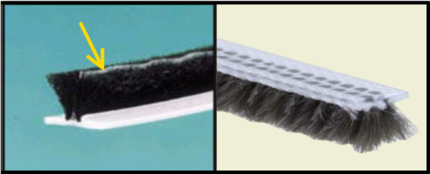 Sweep-type window weatherstrips