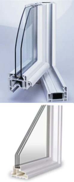 PVC and fiberglas windows