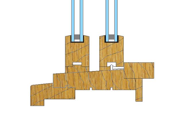 Wood double hung window sill
