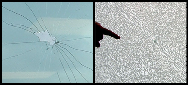 Glass impact breakage on annealed and tempered glass. The distinction is important in assessing glass evidence