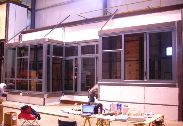 Window testing laboratory mockup