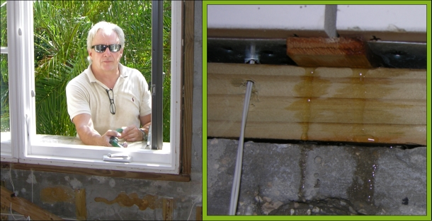 Window testing in Orlando Florida. This home had leaky windows in stucco wall construction followed by a massive mold outbreak