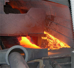 Tonnes of silica sand and other ingredients are fed into the float glass furnace