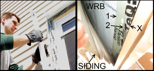 Bad installation of window flashing