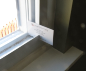 Unsealed window frame corner