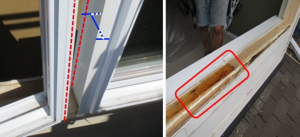 Bad window replacement  with unsealed mullions