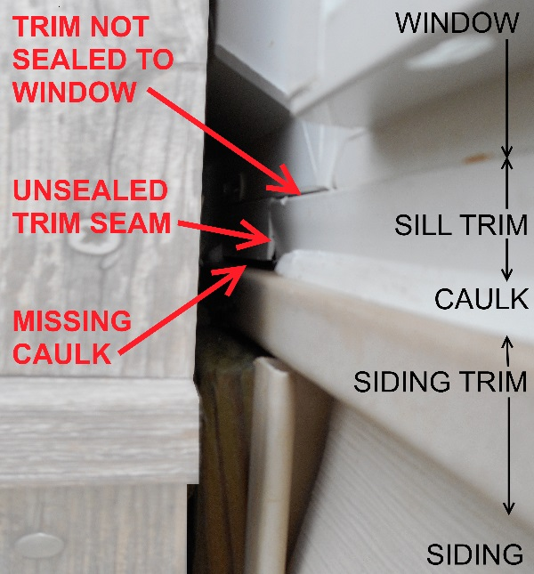 Chicago window expert blog archive bad window - Wood filler or caulk for exterior trim ...