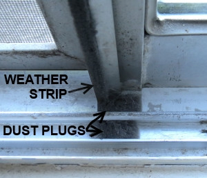 Dust plugs are used to ensure contiuity when you replace weatherstripping