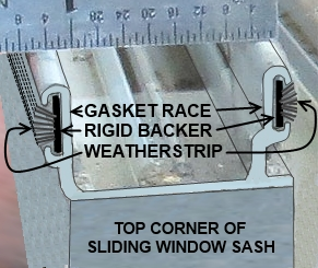 Replace weatherstripping in special slot designed for holding the weatherstrip