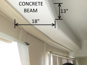 Concrete beam in Hilberling apartment