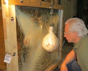 Impact testing laminated glass