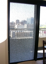 Shattered sliding door